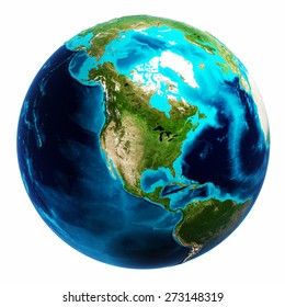 World map white isolated. Elements of this image furnished by NASA