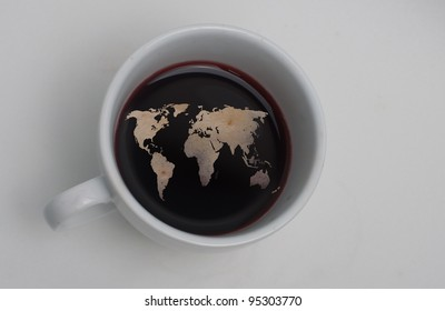 world in my coffee cup