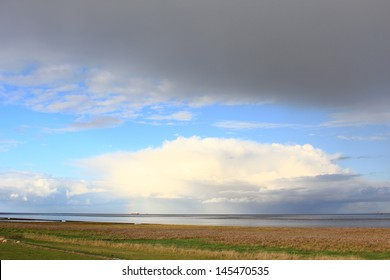"""World Natural Heritage Site """"Lower Saxony Wadden Sea"""" at Schillig, East Frisia, North Sea, Lower Saxony, Germany"""