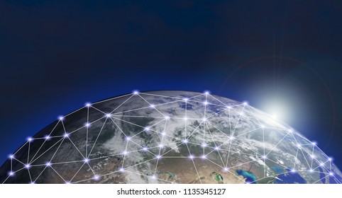 World network social internet concept of global business of Elements of this image furnished by NASA