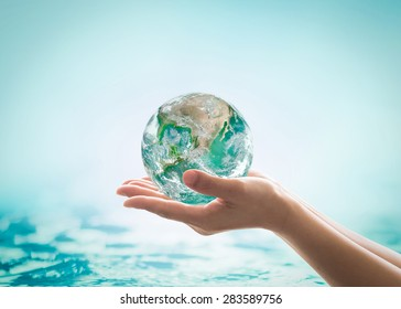 World ocean day, saving water campaign concept: Element of this image furnished by NASA