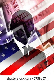 World power america in crisis - Financial Crash on Wall Street