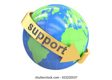 world support concept, 3D rendering isolated on white background