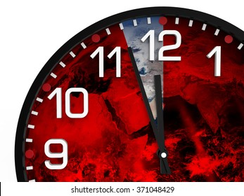 World time doomsday 23.57 hrs., Just three minutes End of the World. Elements of this image furnished by NASA