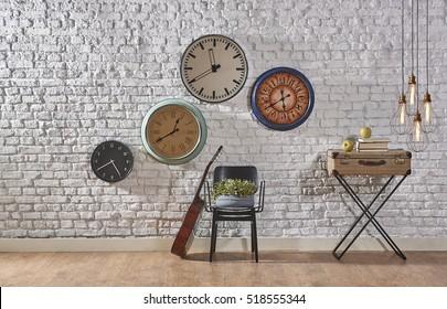 world time interior concept, modern lamp