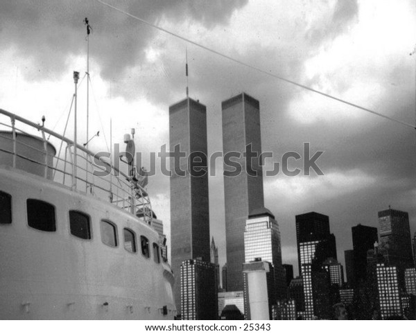 World Trade Center - 1998 - taken from a ship in NY Harbor