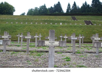 World War 2 Concentration Camp Tomb Stones - Natzweiler-Struthof, France - August 11 2017