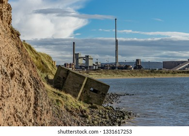 World war 2 defences. South Gare. Located on the north east coast of England.