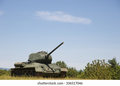 World War 2 military tank