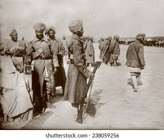 World War I, India's soldiers in France, ca 1914-1918.