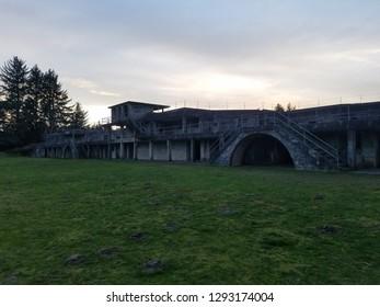 World War II bunker in Warrington Oregon, Battery Russel.