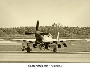 World War II era American fighter plane
