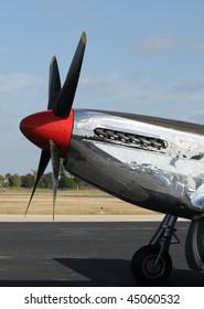World War II era silver fighter plane
