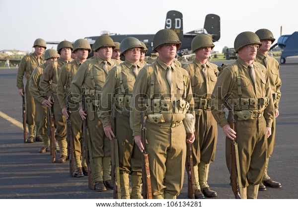 World War Ii Infantry Troops Standing Stock Photo (Edit Now