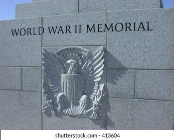 World War II Memorial fountain and pool in Washington DC