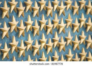 World War II Memorial Stars in Washington, DC