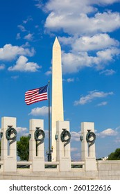 World War II Memorial in washington DC USA at National Mall