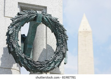 World War II Memorial and Washington Monument in Washington, DC