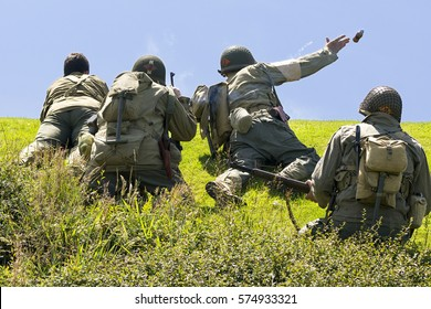 World War II  reenactment soldiers