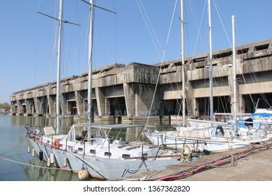 World War II Submarine Bunkers in Bordeaux, France