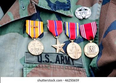 World War II veteran wearing his medals