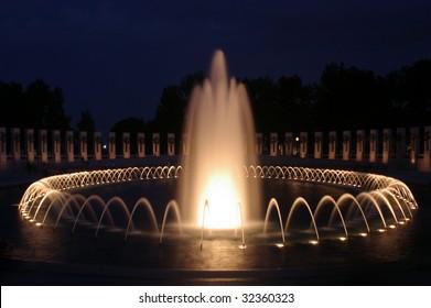 World war memorial fountain