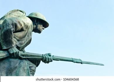 World War I Memorial at Veterans Plaza in Overton Park, Memphis, Tennessee, USA.