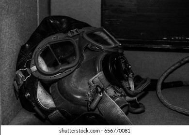 world war two black and white air force mask