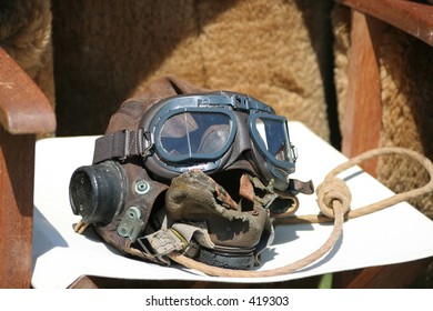 World War two RAF fighter pilot goggles.