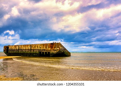 World War Two Sites in Europe, Arromanches, Normandy, France.