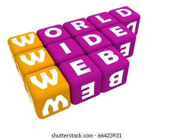 world web portal written on two different colors