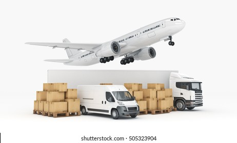 world wide cargo transport concept. 3d rendering