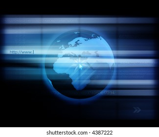 World Wide Web - Conceptual high-res internet background with interesting dot screen effect.
