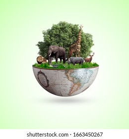 world wildlife by Animal's on earth, wildlife concept, environment day, World Habitat & wildlife day, 3rd March , 21th, world day of endangered species,  world Forest and biodiversity day,