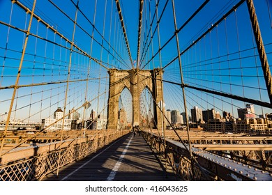 World-Famous Brookly Bridge, New York City