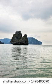 "The world-famous rock - island ""Monkey Sawasdee Island' in the Gulf of Thailand"