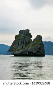 "The world-famous rock islands ""Monkey Sawasdee Island"" in the Gulf of Thailand"