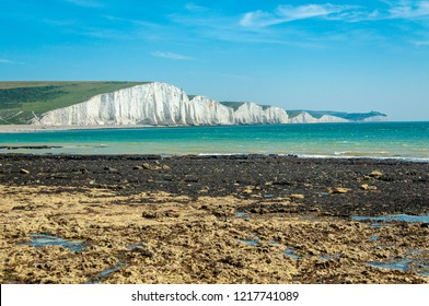 The world-famous Seven Sisters sit at the south-eastern end of the South Downs. The cliffs are often mistaken for the white cliffs of Dover.