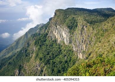 The World's End. Horton Plains National Park. Sri Lanka.