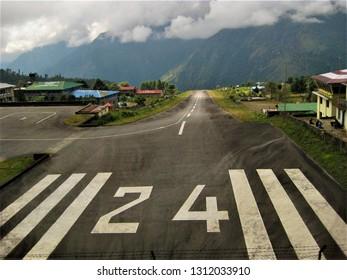 The World's most dangerous airport in Lukla/Nepal.