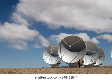 The worldwide biggest telescope Array is in Chile. Alma consists of over 60 radio antennas