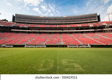 WORLDWIDE PHOTO WALK AT SANFORD STADIUM - OCTOBER 11, 2014: The annual worldwide photo walk at Sanford Stadium of the University of Georgia, Athens, Georgia, United States.