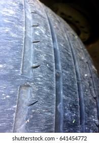 Worn Car Tyre