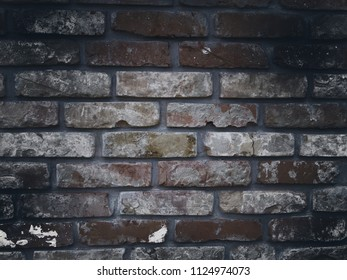 Worn colored, with smoky effected brick wall pattern. Stylish texture for web background, poster design, art print.
