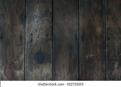 Worn and Damaged Vertical Wood Floor