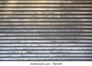 Worn Metal Panel Wall Texture Background, Horizontal
