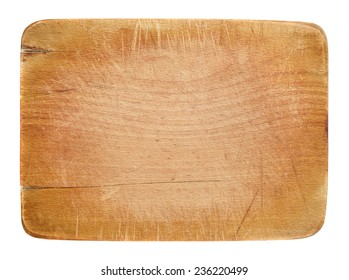 Worn out kitchen wooden board with room for copyspace