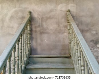 Worn stairs with stalemate. Space for text