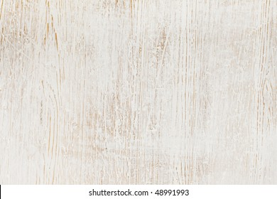 Worn white paint on wood background texture