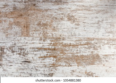 Worn wooden background. White paint.
